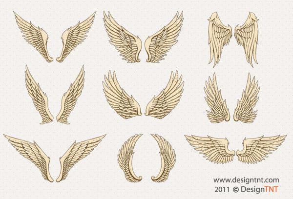 手绘卡通翅膀