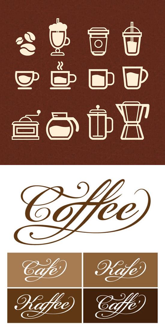 咖啡logo图标_素材中国sccnn.com