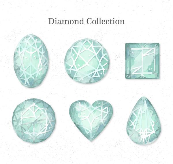 蓝色花纹宝石