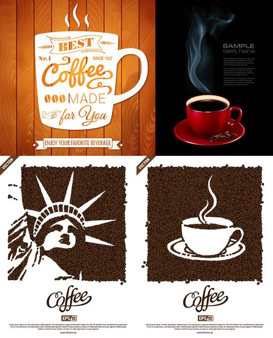 素材分类: 平面广告所需点数: 0 点 关键词: 咖啡海报设计矢量素材