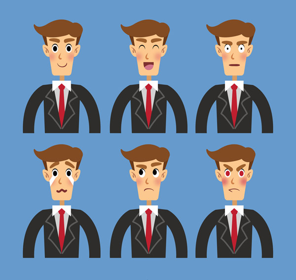 商务男子表情半身像