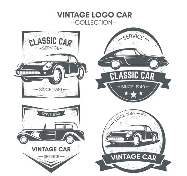复古车辆标志