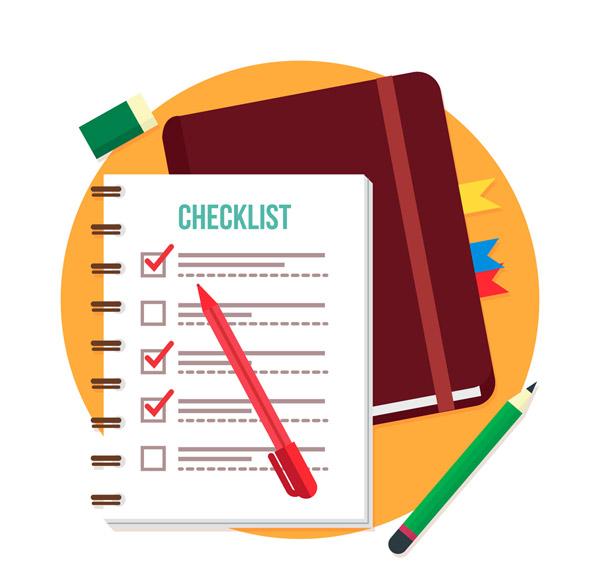 清单记事本和笔