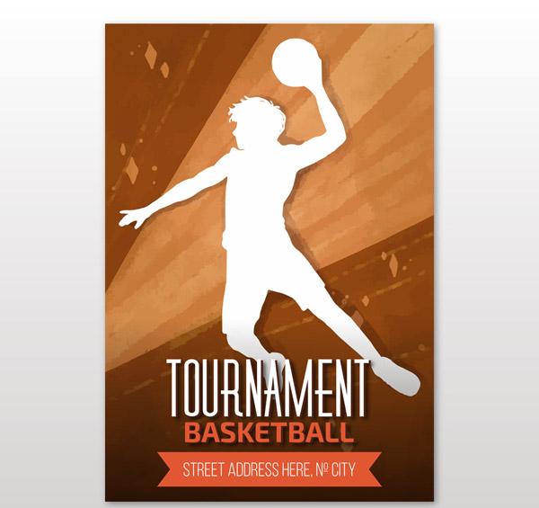 篮球锦标赛海报