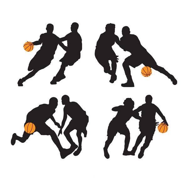 篮球运动人物剪影