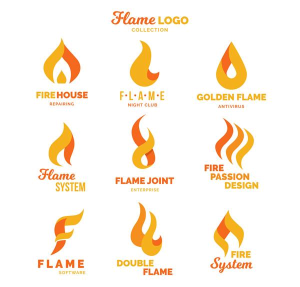 抽象火焰标志