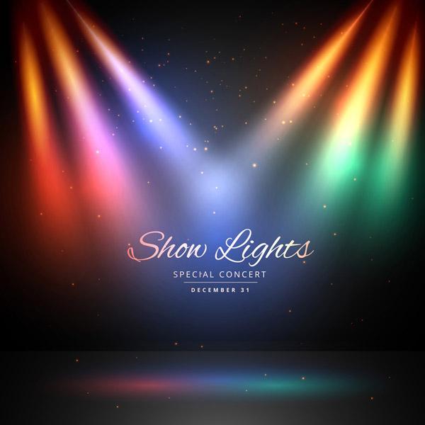 五彩灯光舞台