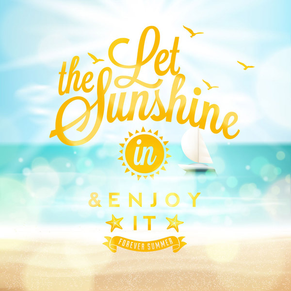 绘夏季海滩度假海报