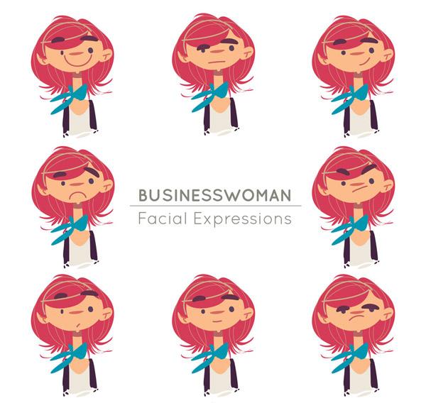 红发商务女子头像