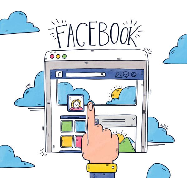 手机浏览脸书页面