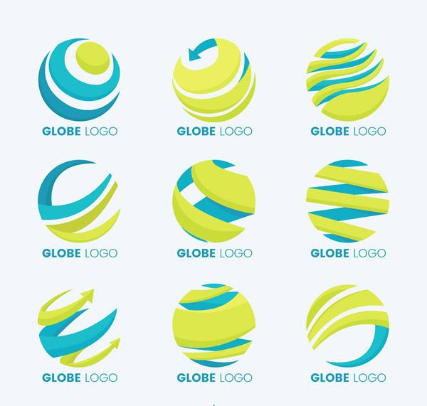 抽象地球标志