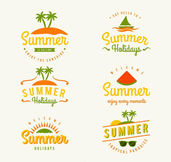 夏季艺术字标签