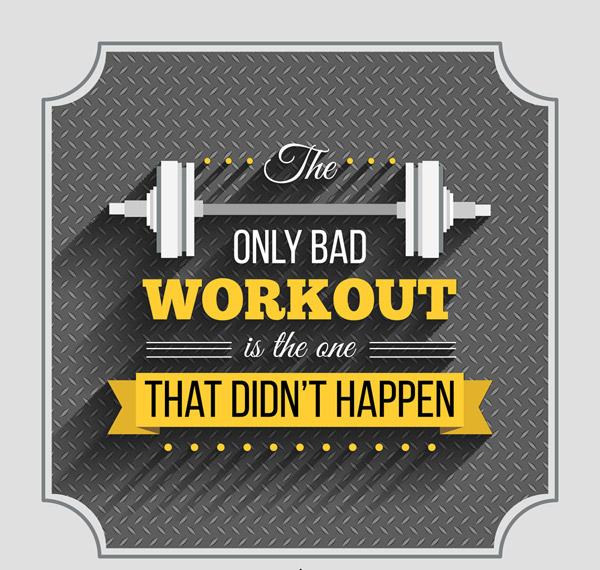 健身隽语海报