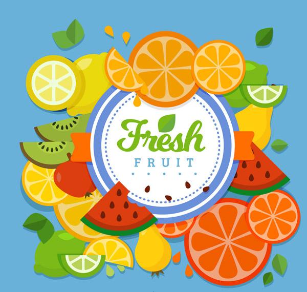 水果装饰标签