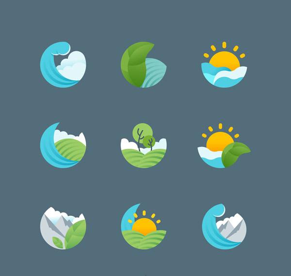 地球风景标志