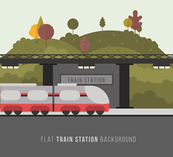 扁平化车站