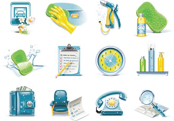 素材分类: 矢量各式图标所需点数: 0 点 关键词: 创意生活日用品图标