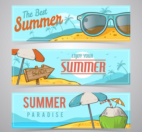 夏季假期banner