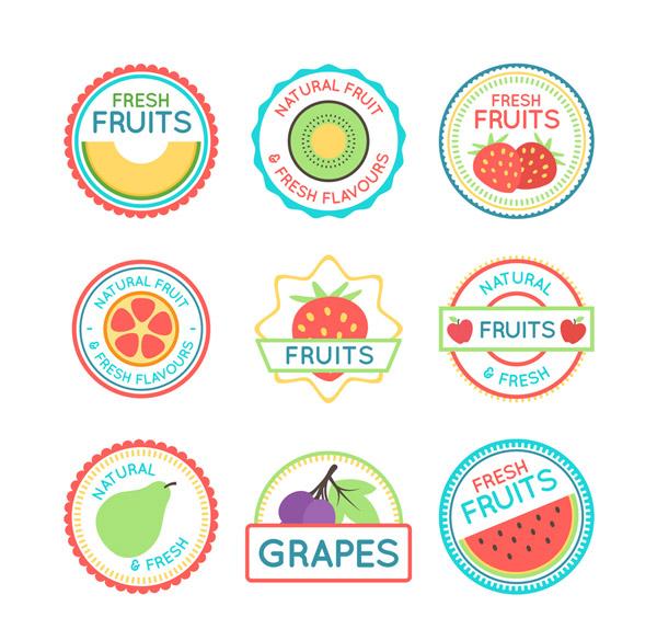 圆形水果标签