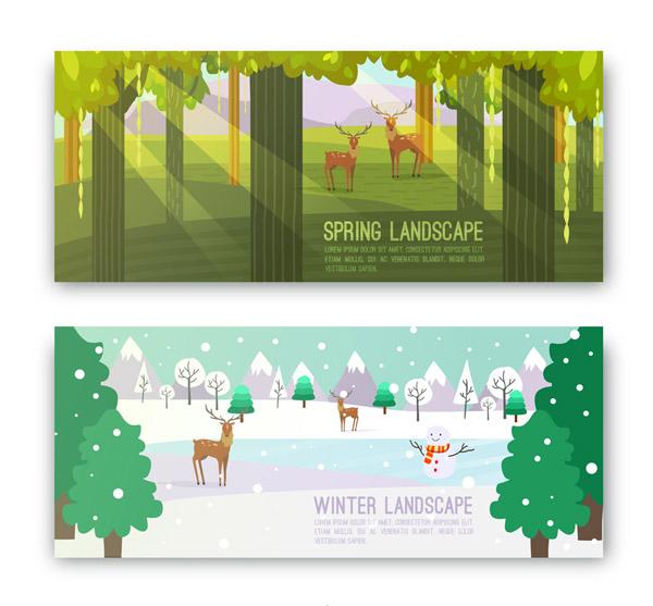 春冬季风景banner