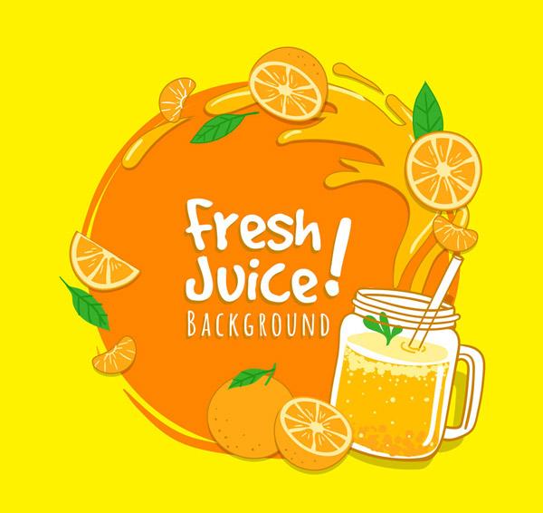 新鲜橙子和橙汁