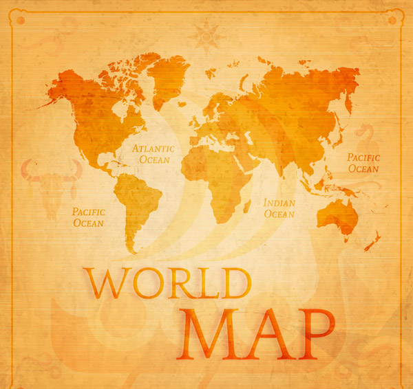 复古世界地图