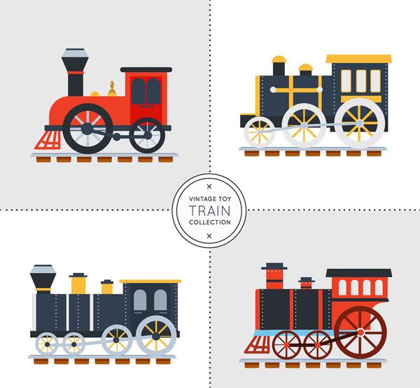复古玩具火车