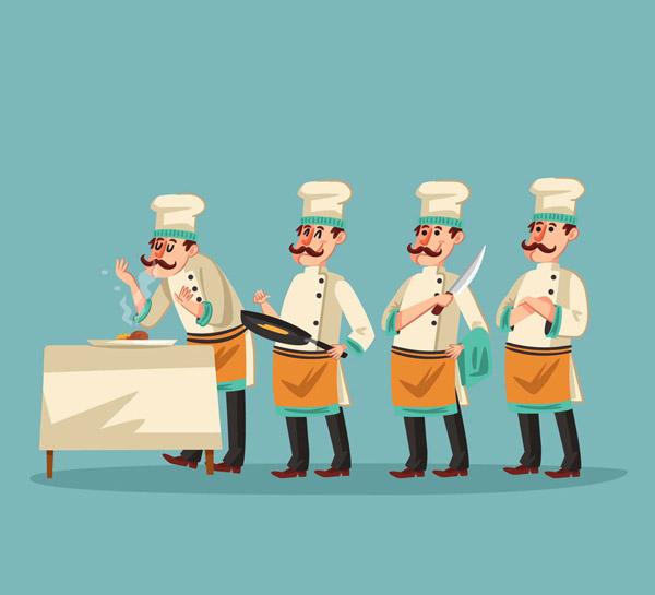 创意厨师动作