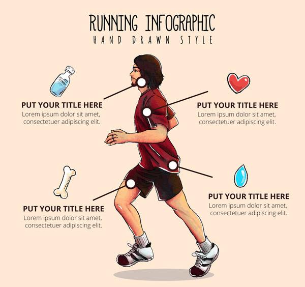 跑步男子信息图