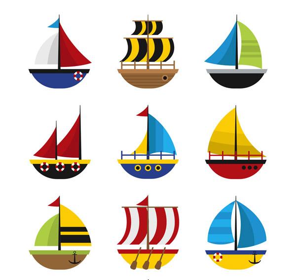 彩色帆船设计