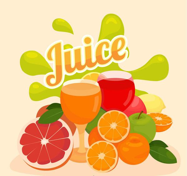 新鲜水果和鲜榨果汁