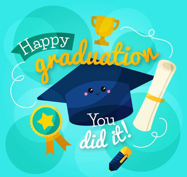 博士帽和毕业证