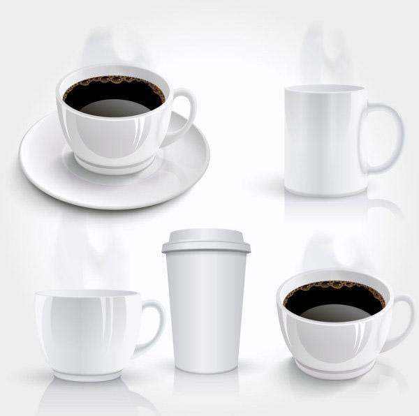 Realistic coffee vector