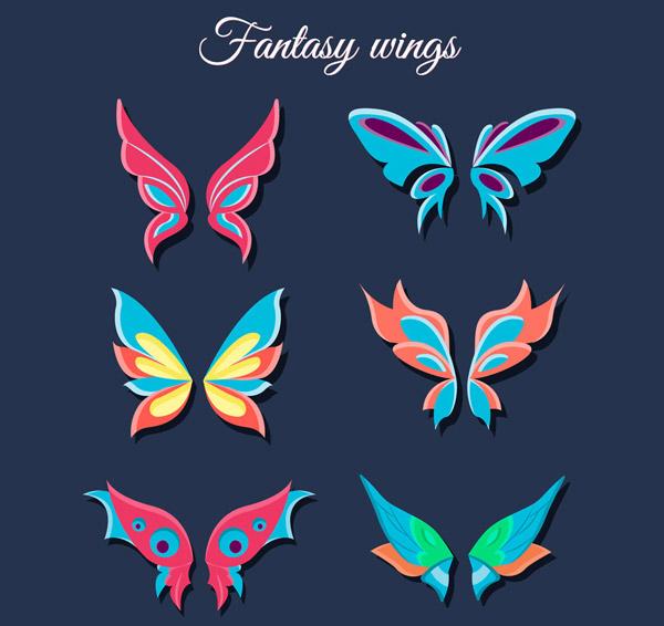 彩色蝴蝶翅膀