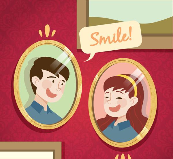 创意笑脸人物照片