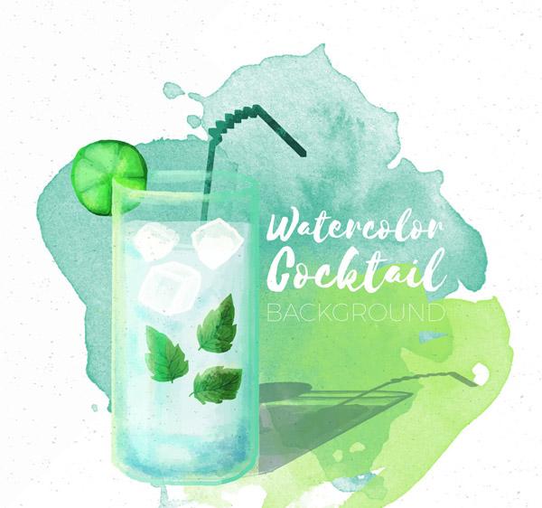 玻璃杯装鸡尾酒