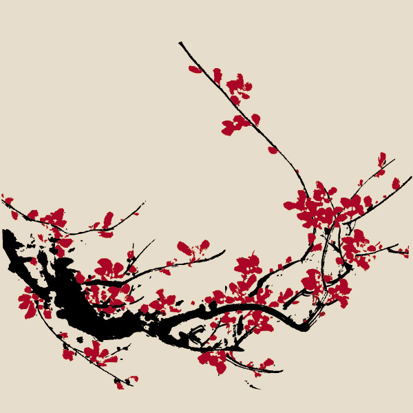 Chinese Plum Flower : 2015 羊 イラスト : イラスト