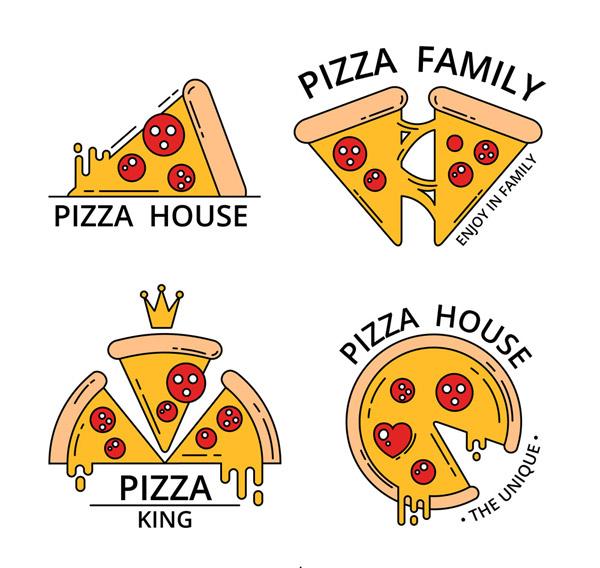 彩绘披萨餐馆标志