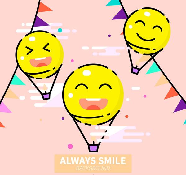 彩绘笑脸热气球