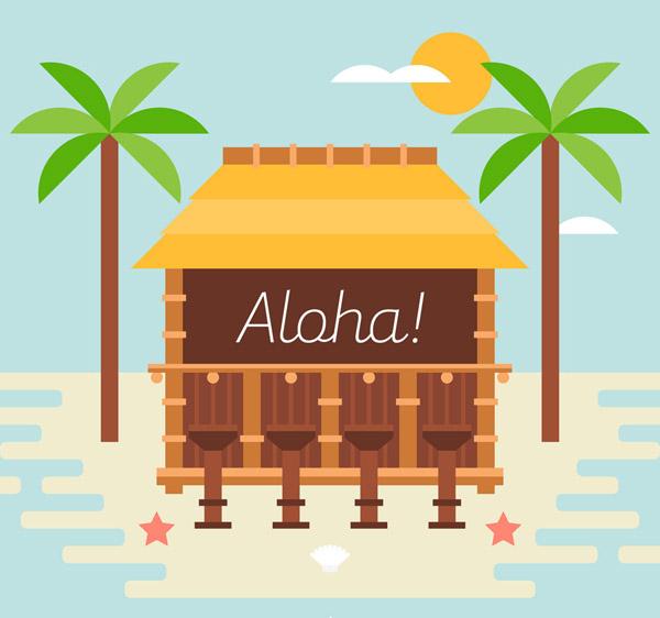夏威夷海上度假木屋