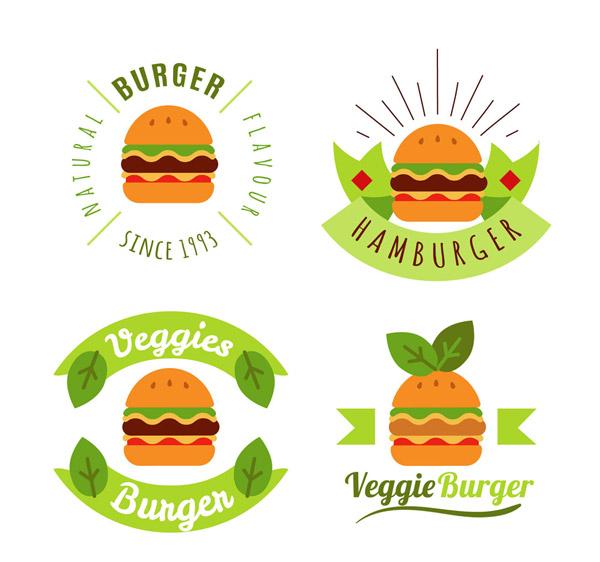素食汉堡包标志