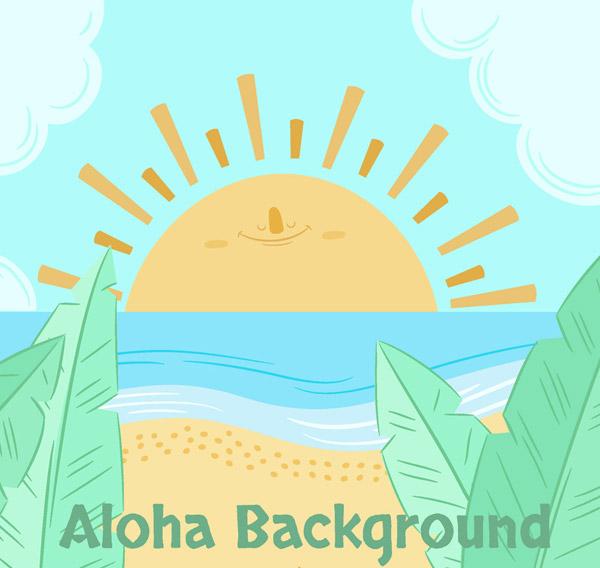 夏威夷海上日出