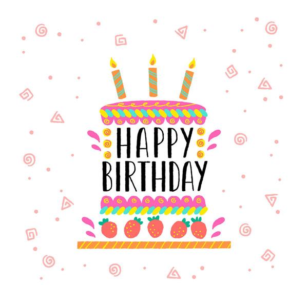 生日蛋糕艺术字