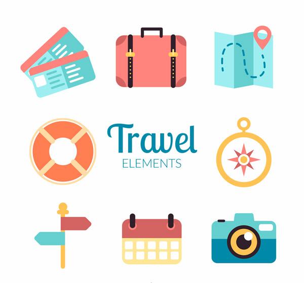 旅行元素图标