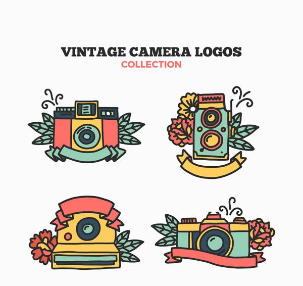 照相机和花卉标志