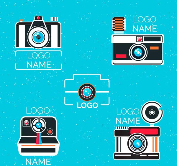抽象照相机标志