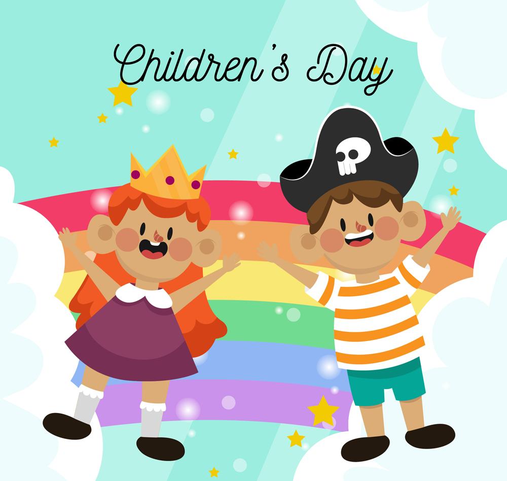 儿童节卡通装扮儿童