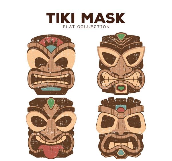 夏威夷面具矢量