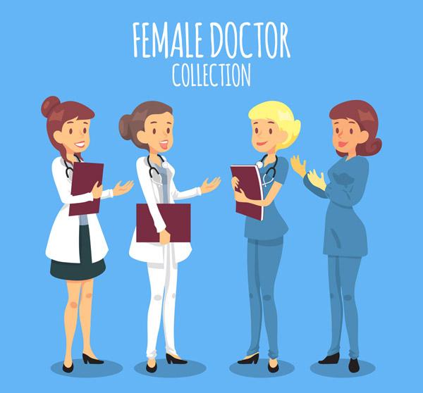 创意女医务人物