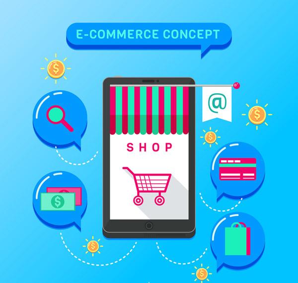 手机和电子商务元素
